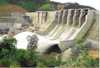 Công trình thuỷ điện Plei Krông (hình ảnh lấy từ trang thông tin điện tử kontum)